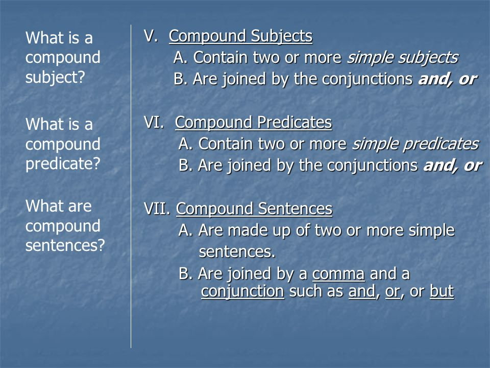 What is a compound subject