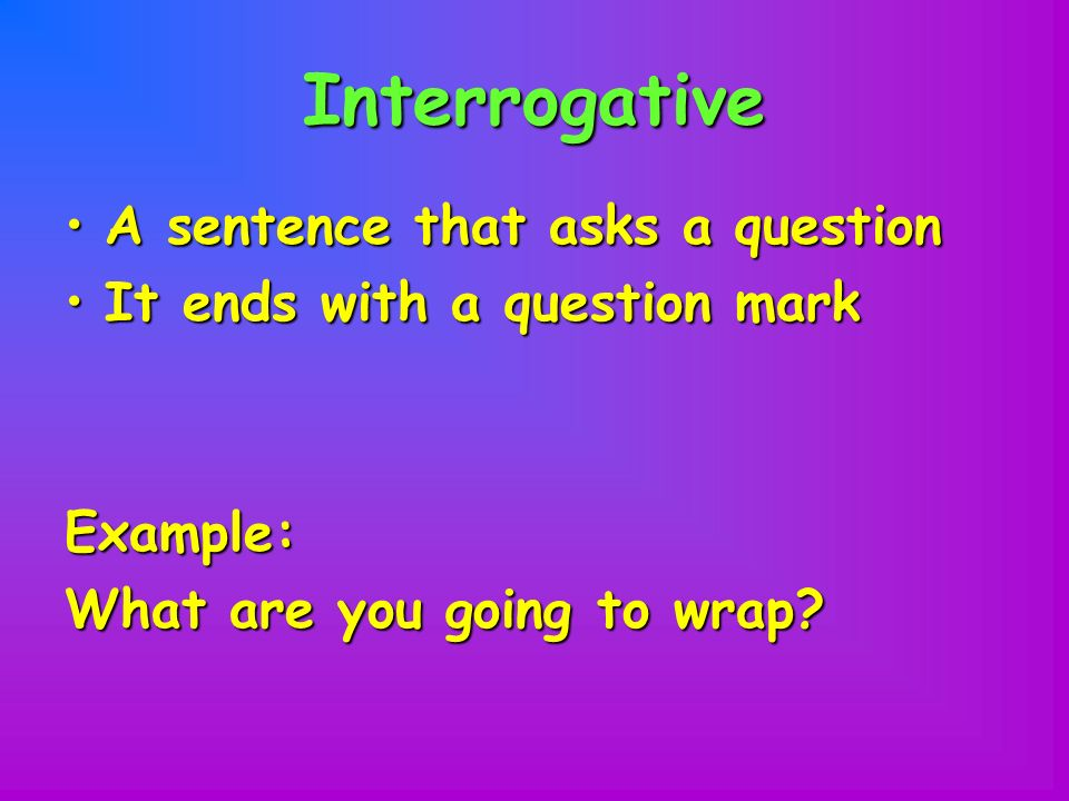how to tell if a sentence is a question