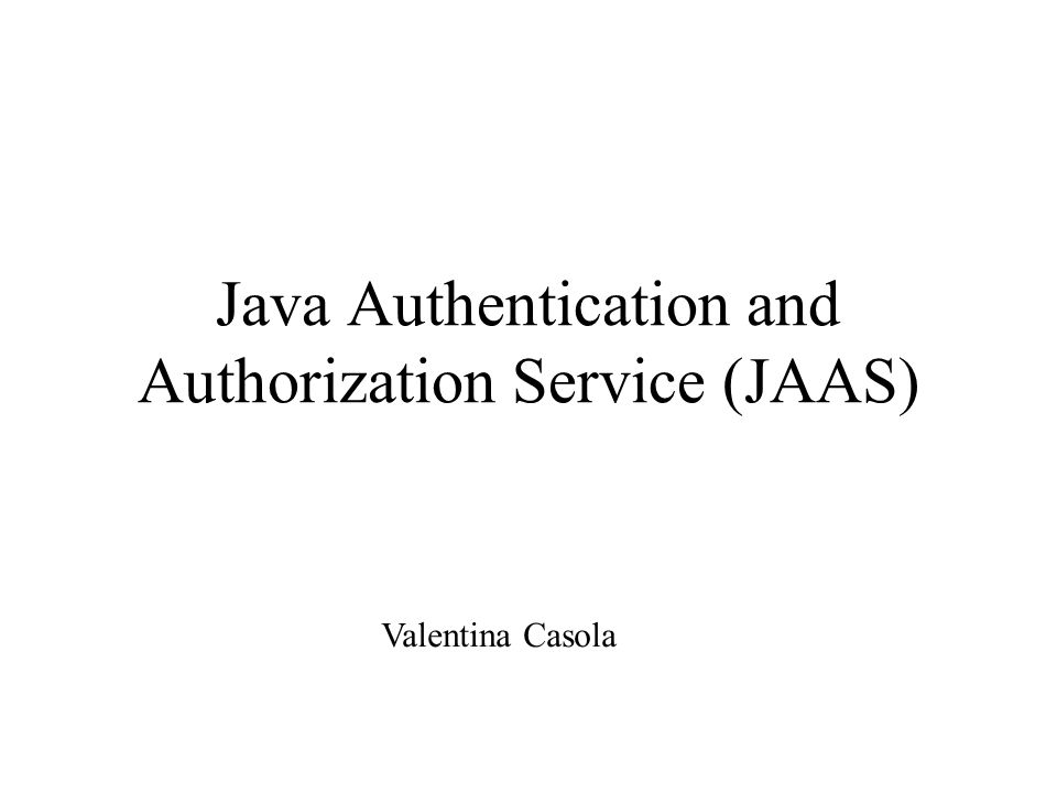 authorization objects in java