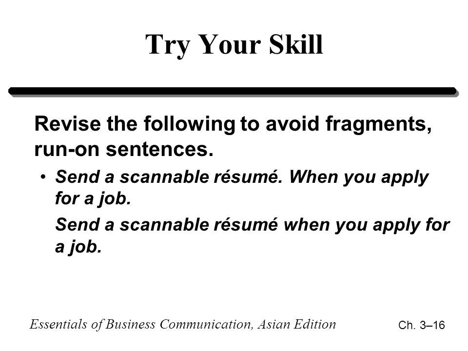 Apply your skills
