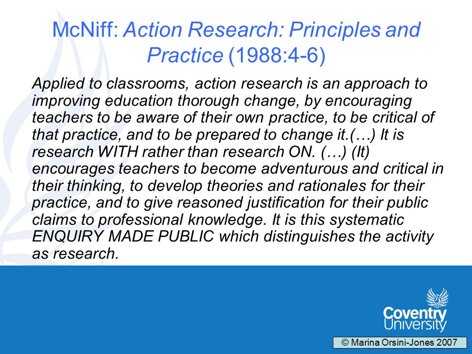 action research for improving educational practice pdf