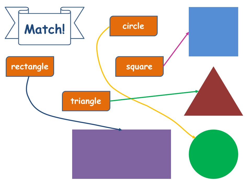 Match! circle rectangle square triangle