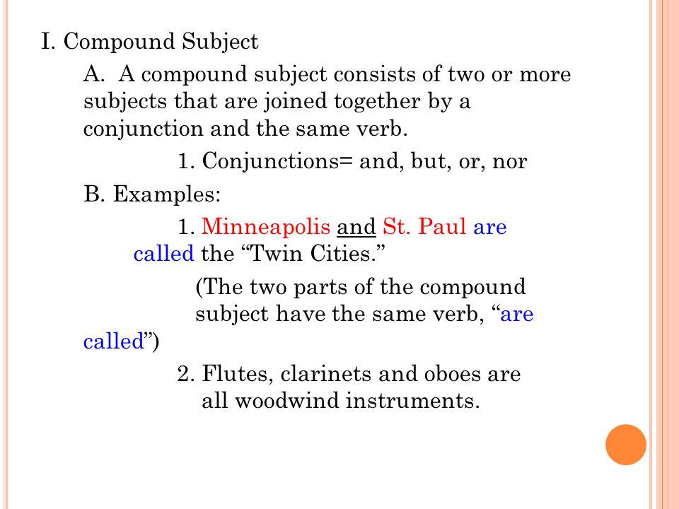 Compound Subjects And Verbs Ppt Download