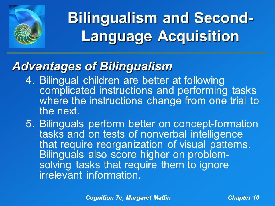 bilingualism language acquisition It is important to remember that there are large individual differences in language acquisition bilingual acquisition bilingualism, including learning.