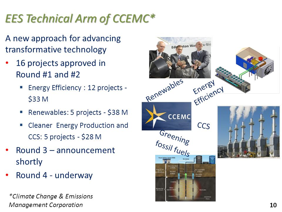 EES Technical Arm of CCEMC*