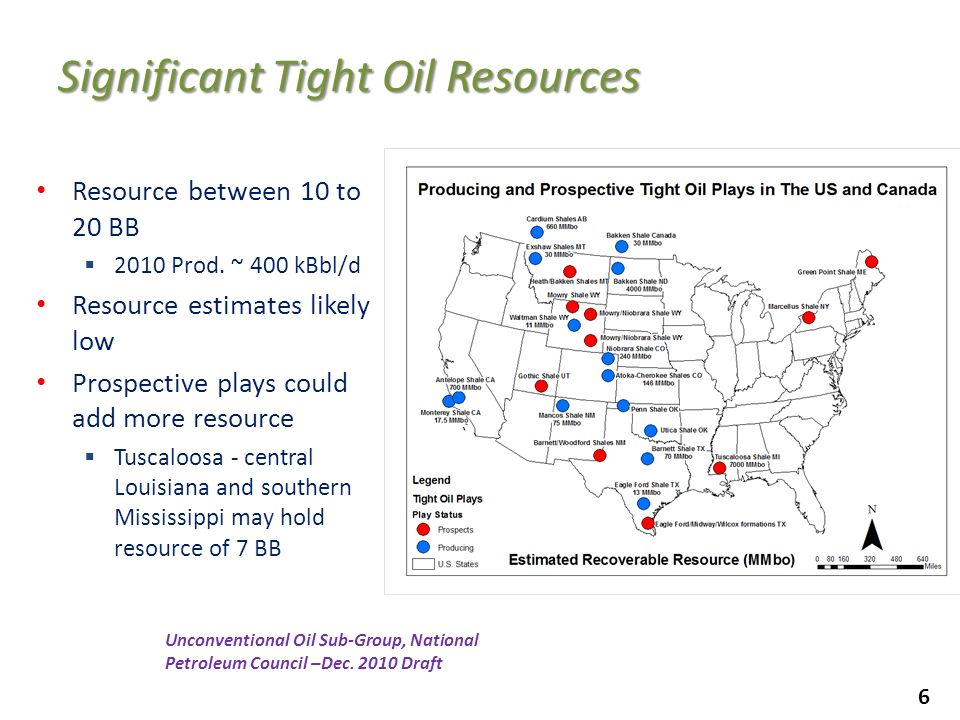 Significant Tight Oil Resources