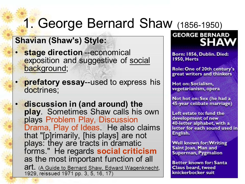 pyg on introduction ppt video online george bernard shaw 1856 1950