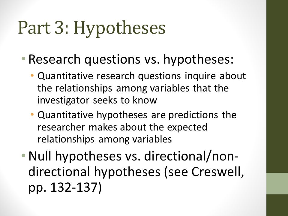 hypothesis quantitative research Quantitative research on the other hand focuses more in counting and classifying features and constructing statistical models and figures to explain what is observed read also: aims of research : qualitative quantitative hypothesis: broad: narrow: description: whole picture: focused: type of.