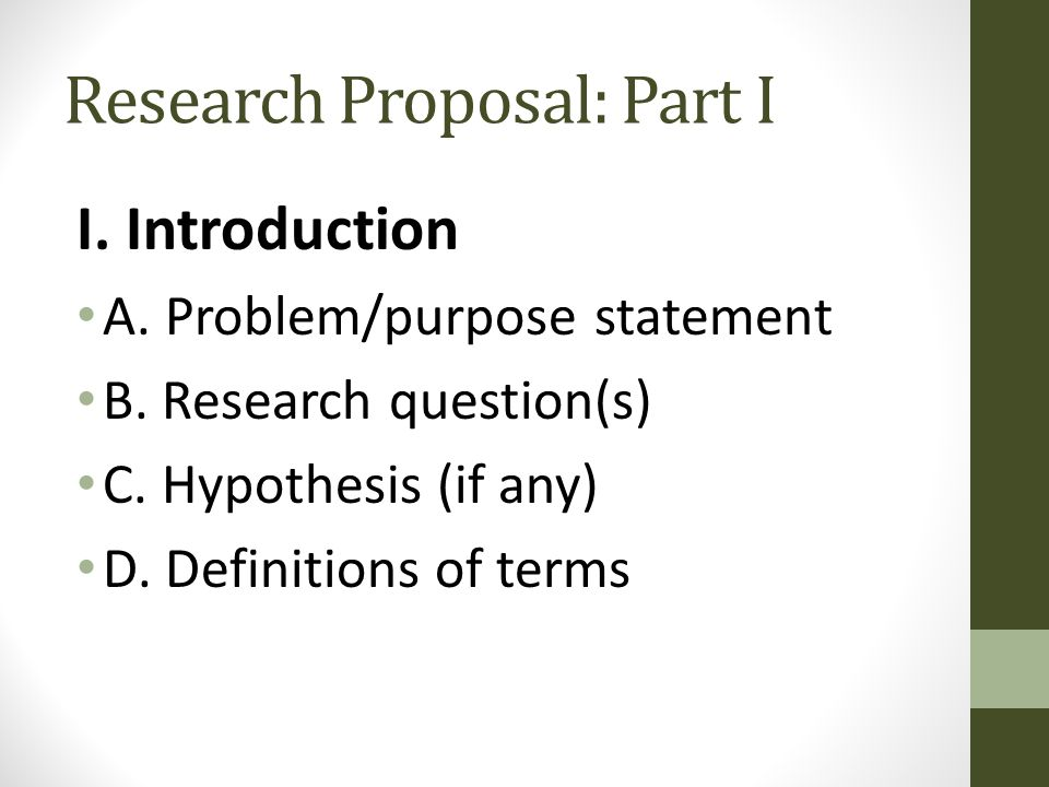 research proposal part b How to write a research proposal what's a research proposal for research proposals make you: outline steps in your proposed research think through your experiments be creative (and you can use parts of it in your final paper) justify.