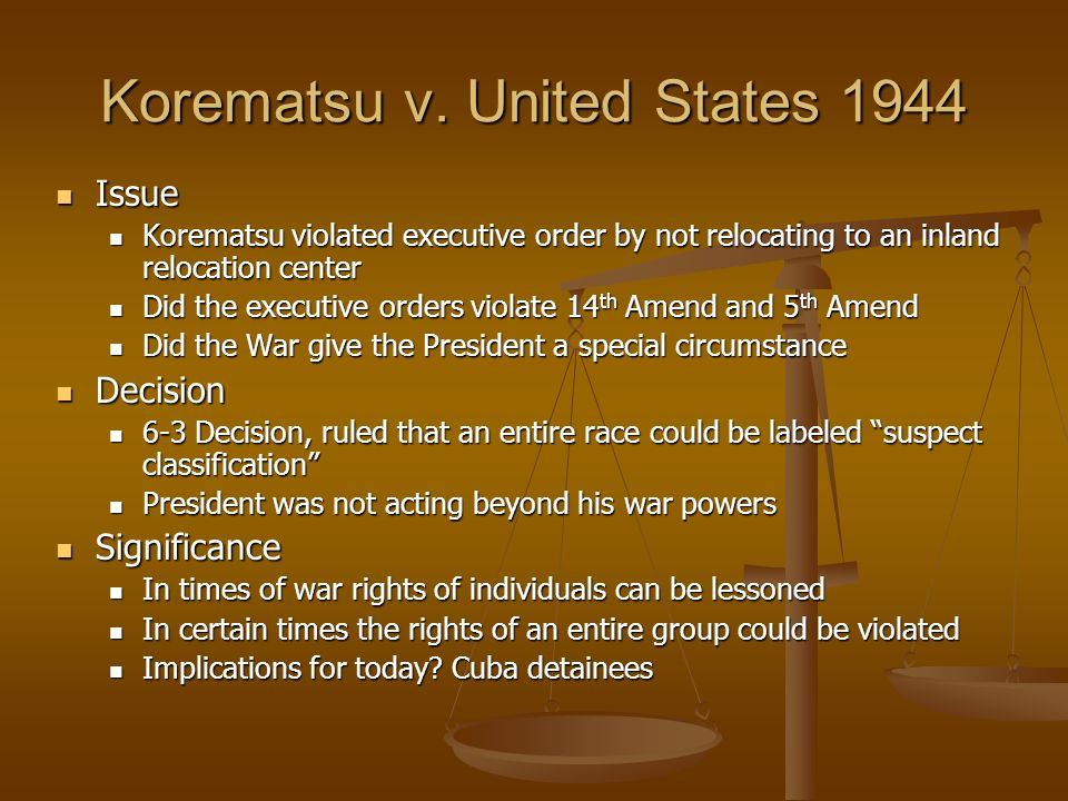Korematsu v the united states 1944 Essay Academic Service