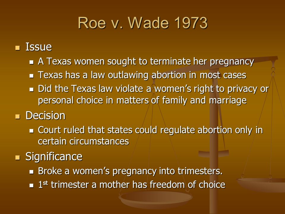 an analysis of the legal issues and arguments regarding abortion in the united states Women in the united states haven't always had the right to an abortion before 1973, individual states were allowed to decide whether abortion would be legal within their borders.