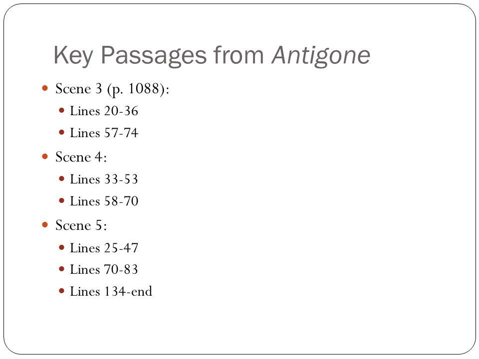 Key Passages from Antigone