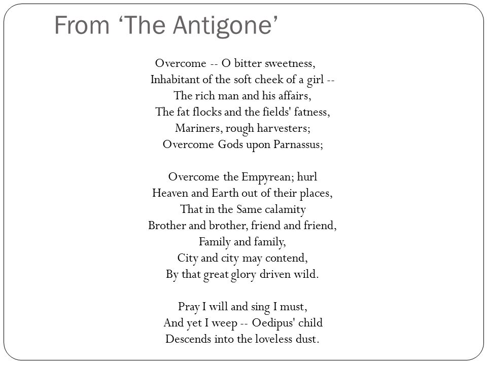 From 'The Antigone'