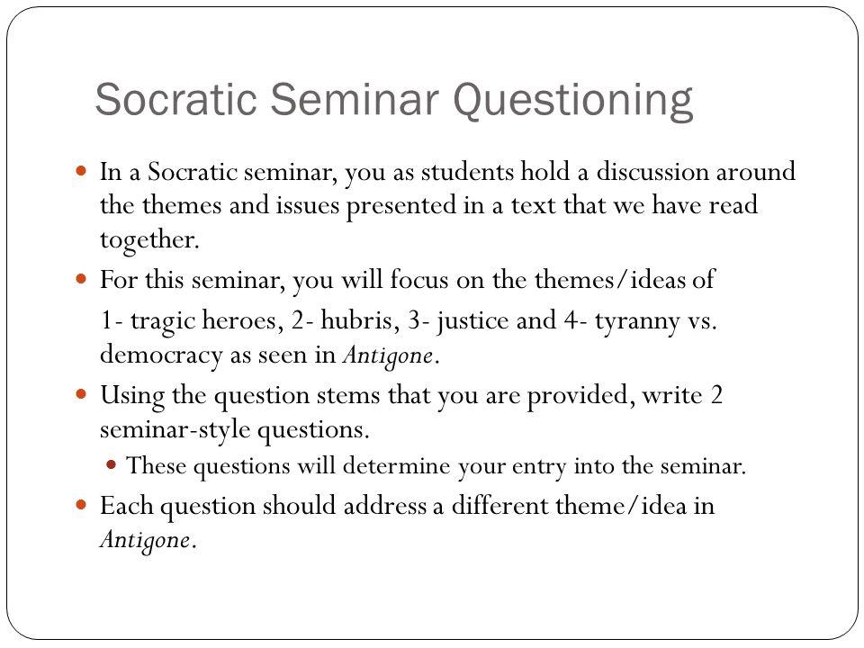 Socratic Seminar Questioning