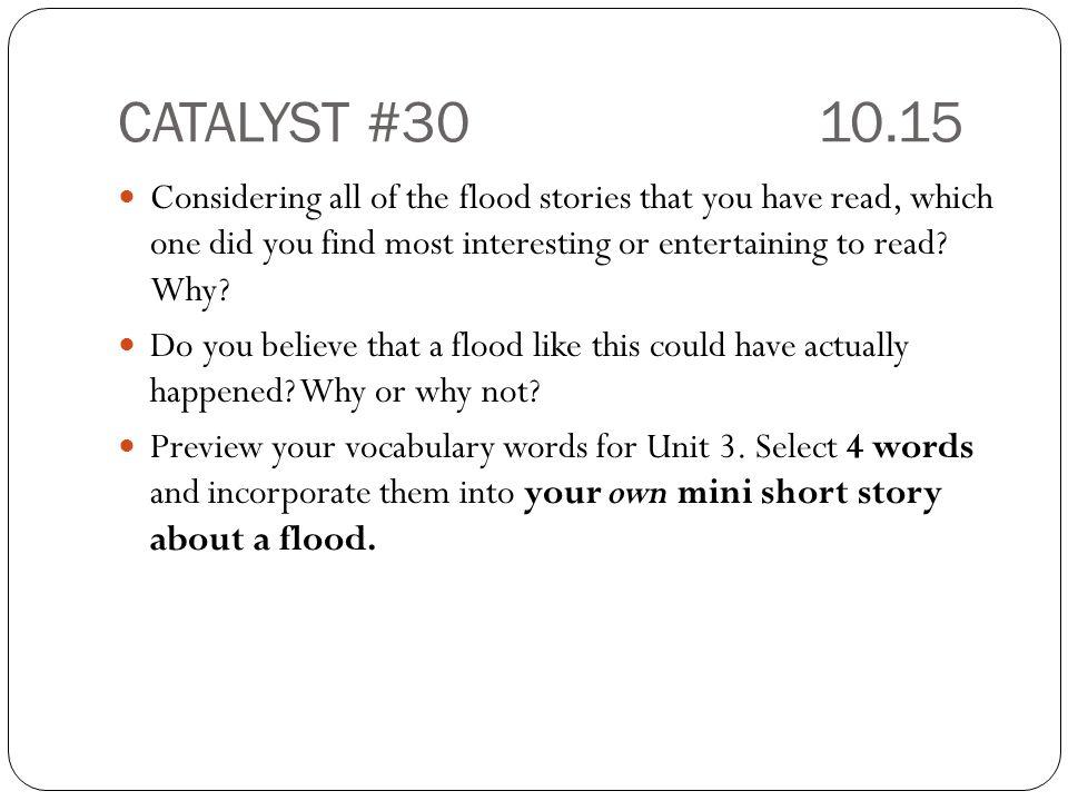 CATALYST #30 10.15