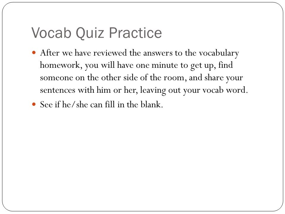 Vocab Quiz Practice