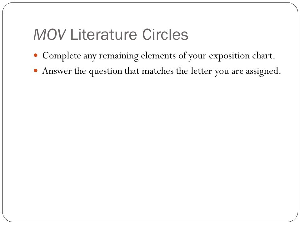 MOV Literature Circles