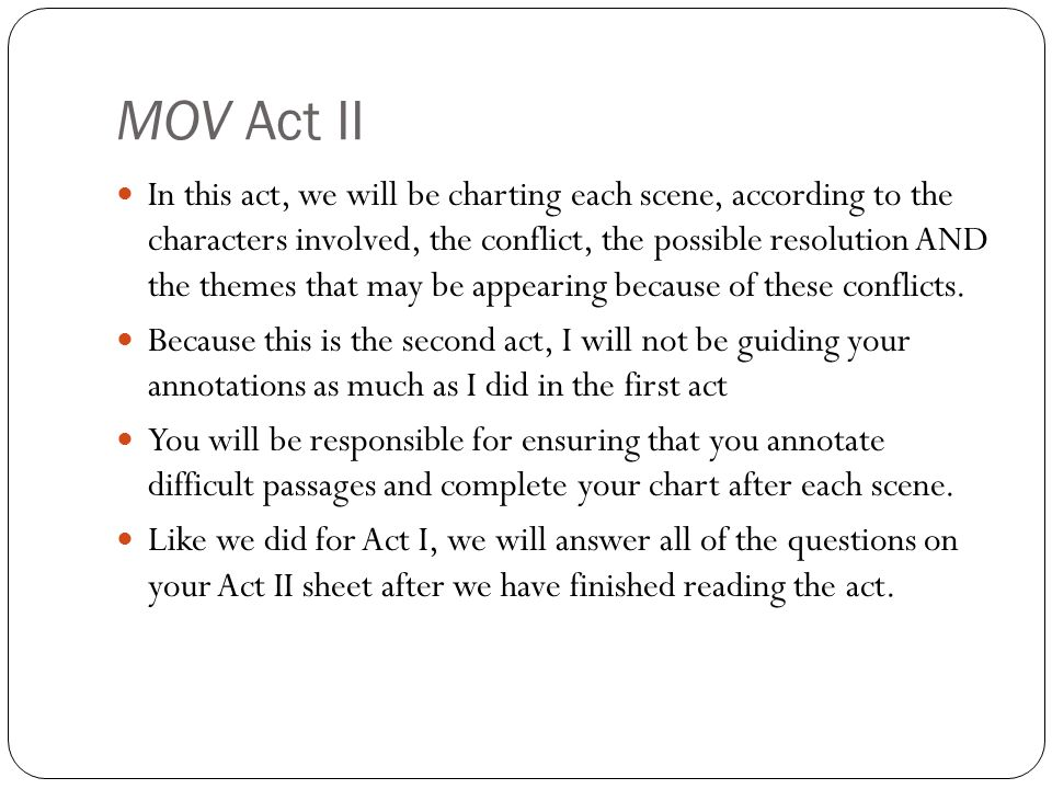 MOV Act II