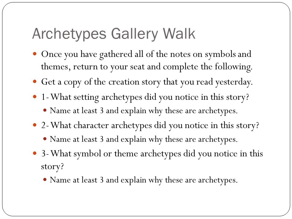 Archetypes Gallery Walk