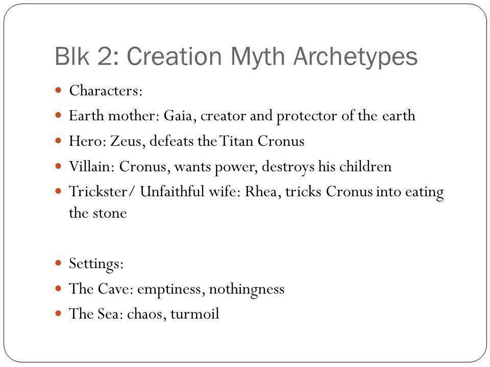 Blk 2: Creation Myth Archetypes