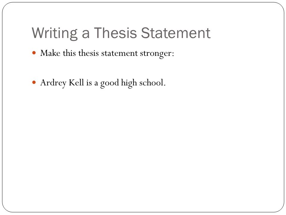 quiz on writing thesis statement Welcome to the ashford university writing center the goal of the ashford writing center (awc) is to help you become a stronger writer and contribute to your success.