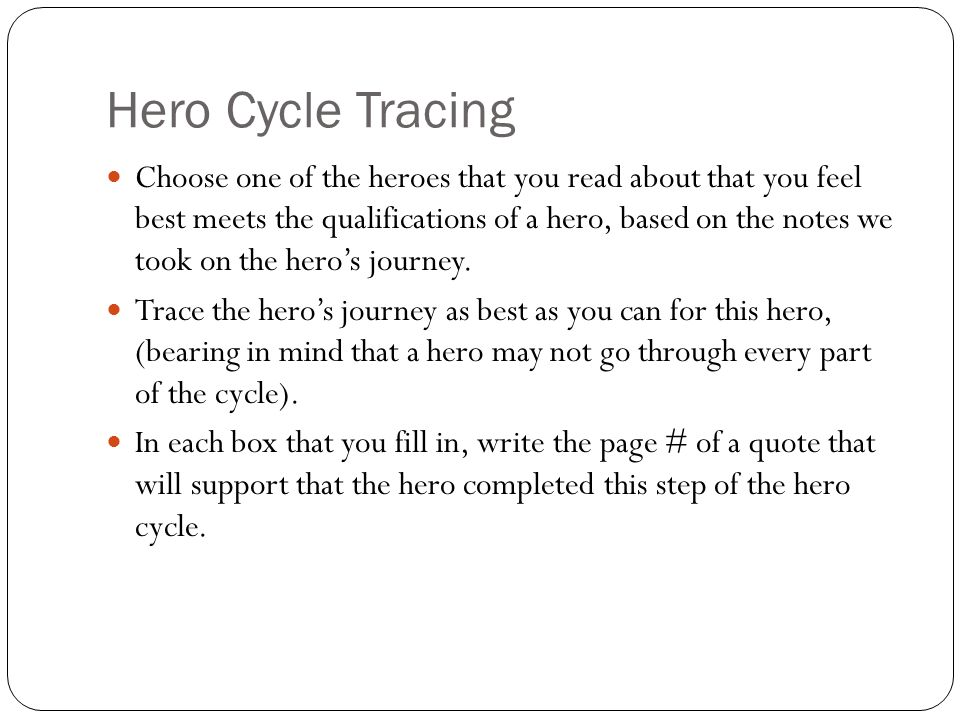 Hero Cycle Tracing