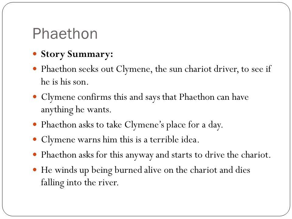 Phaethon Story Summary: