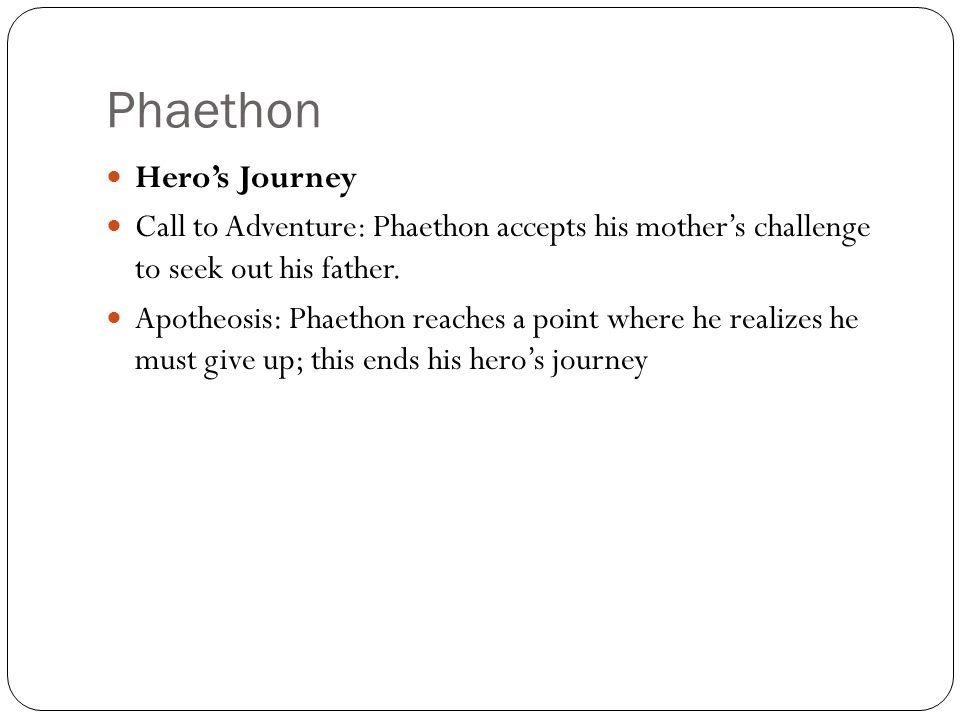 Phaethon Hero's Journey