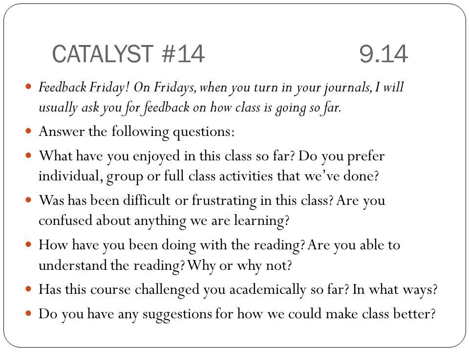 CATALYST #14 9.14