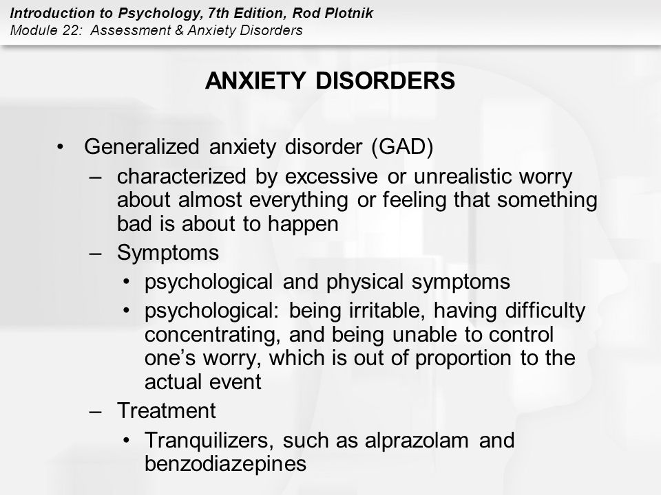 Assessment & Anxiety Disorders - ppt video online download