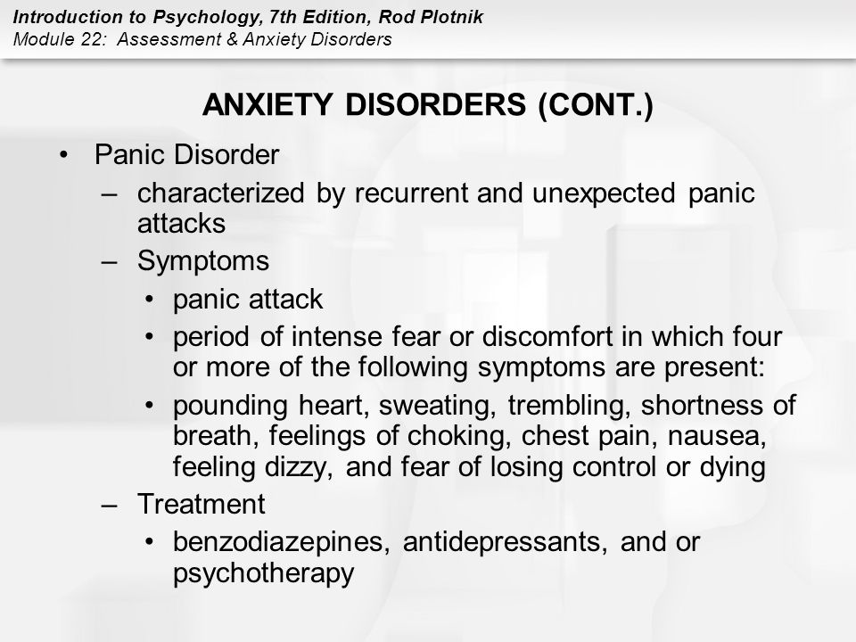 introduction and treatments of anxiety