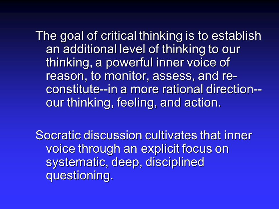 The Importance And Benefits Of Critical Thinking and Reflection In The Workplace