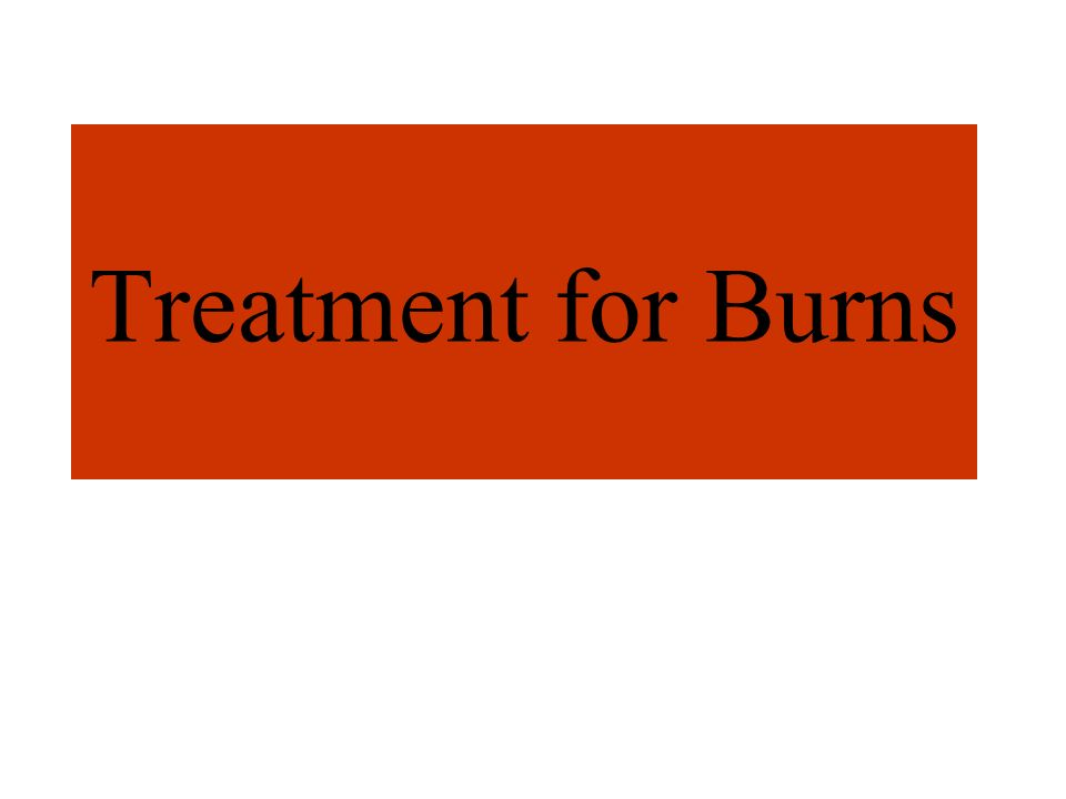 Treatment for Burns