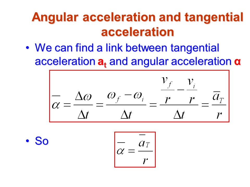 relationship between angular and tangential quantities
