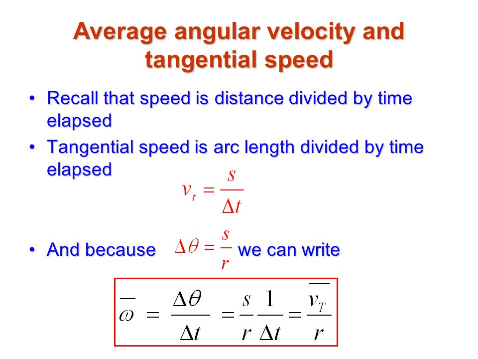 relationship between tangential and angular velocity examples