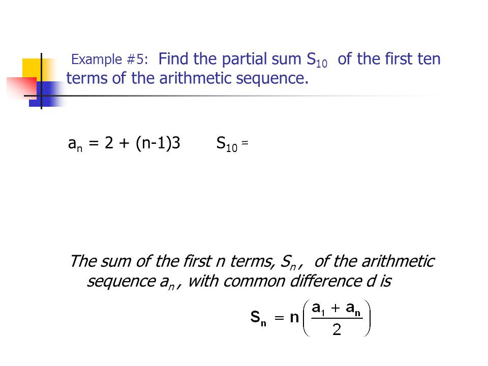 Sequences And Series 13.3 The Arithmetic Sequence - Ppt Video