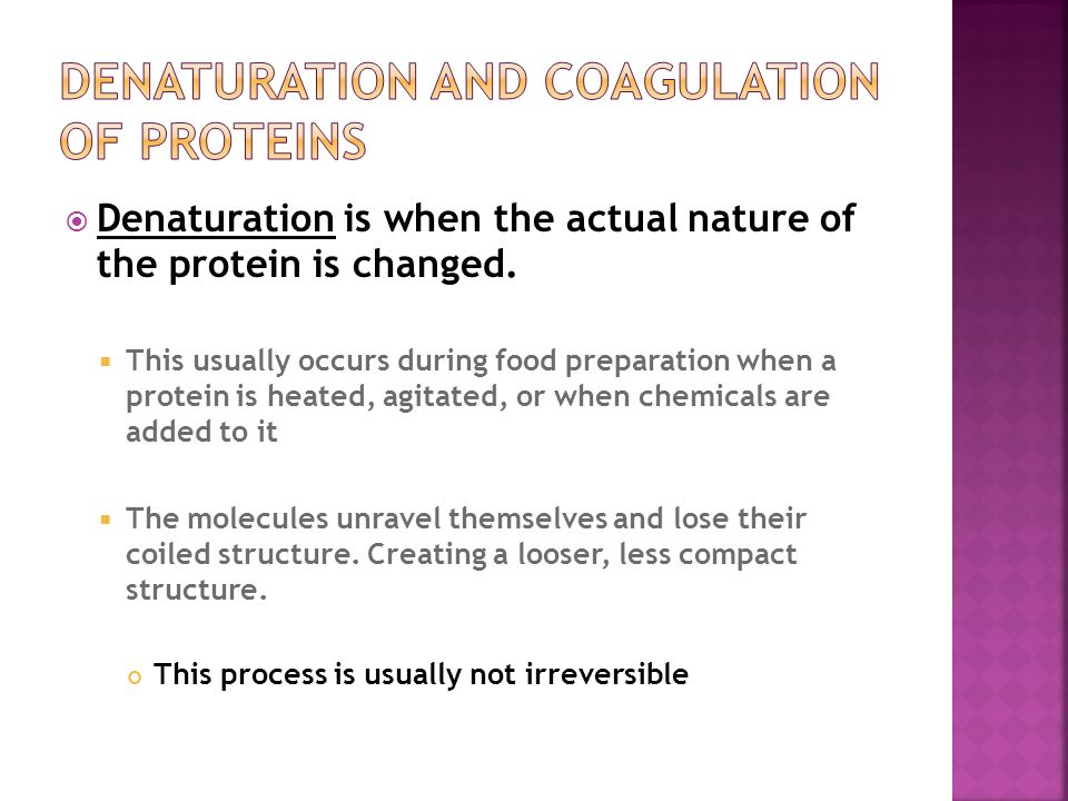 coagulation of proteins Chymosin (rennin) and the coagulation of milk it would rapidly flow through the stomach and miss the opportunity for initial digestion of its proteins chymosin.