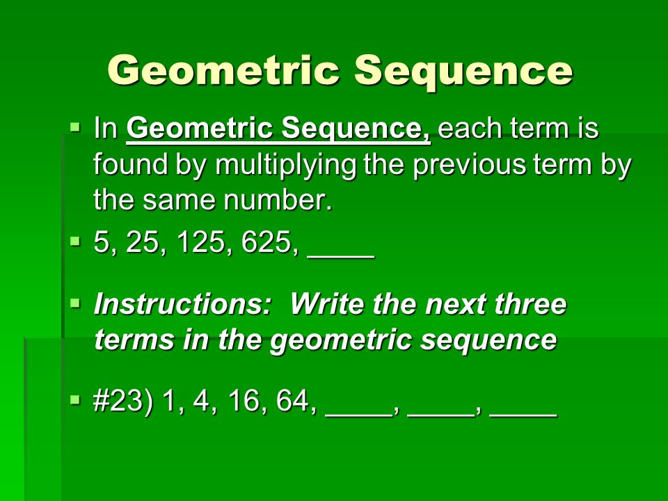 write an expression for the nth term of the geometric sequence