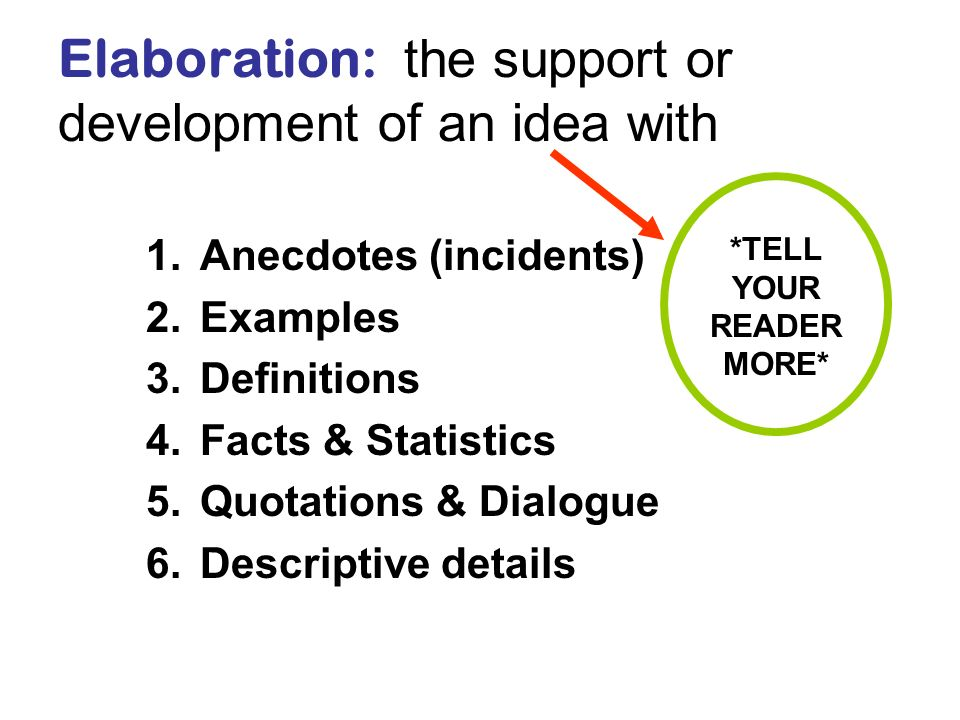 elaboration of thesis Writing an argumentative essay  what is argumentation argumentation is the presentation and elaboration of an argument  thesis – this should be clear,.