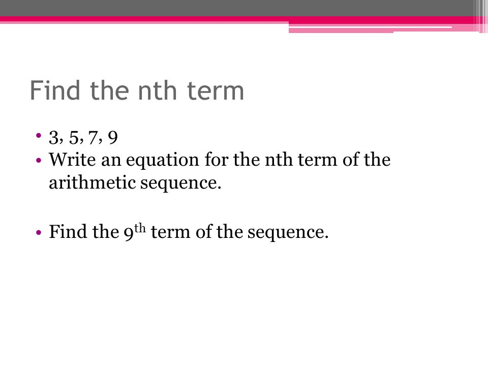Sequences - Finding a Rule