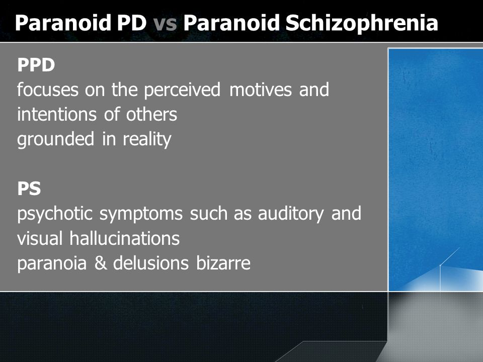 paranoia schizophrenia and paranoid delusions Hallucinations, delusions and paranoia  all delusions are paranoid in nature  as schizophrenia, the hallucinations and/or delusions may be related to that.