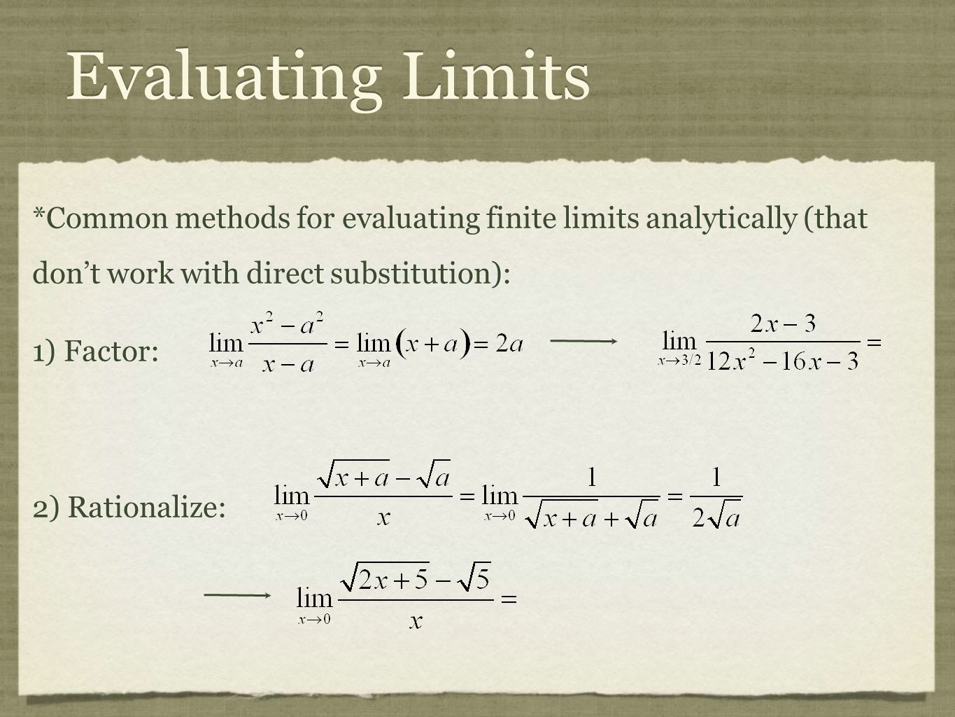 Calculus highlights for APfinal review ppt video online download – Evaluating Limits Worksheet
