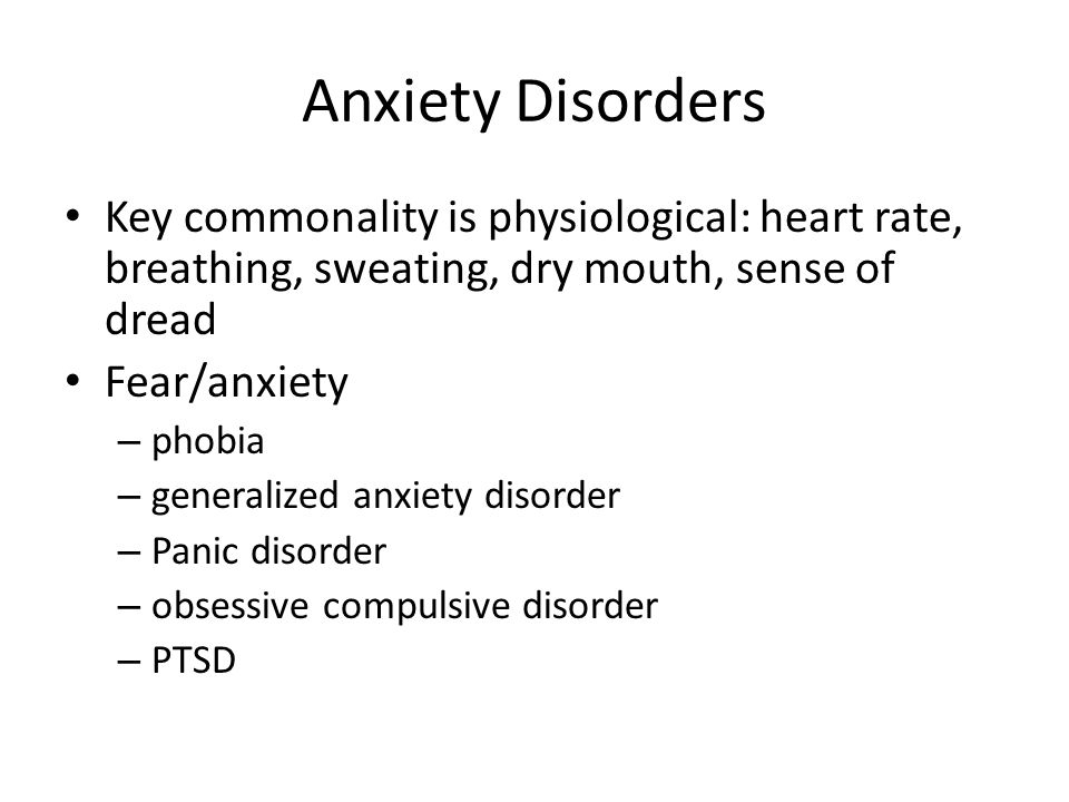 writing anxiety disorder