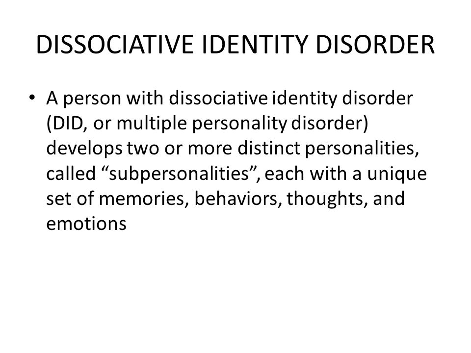 dating someone with dissociative identity disorder These are real people with dissociative identity disorder all of their stories are true, and well documented beyond the sensationalism of tales like dr jekyll an.