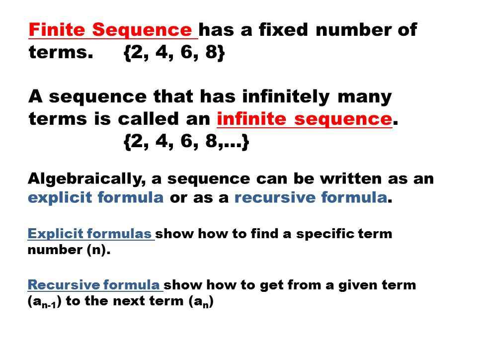2, 4, 6, 8, … a1, a2, a3, a4, … Arithmetic Sequences - ppt ...