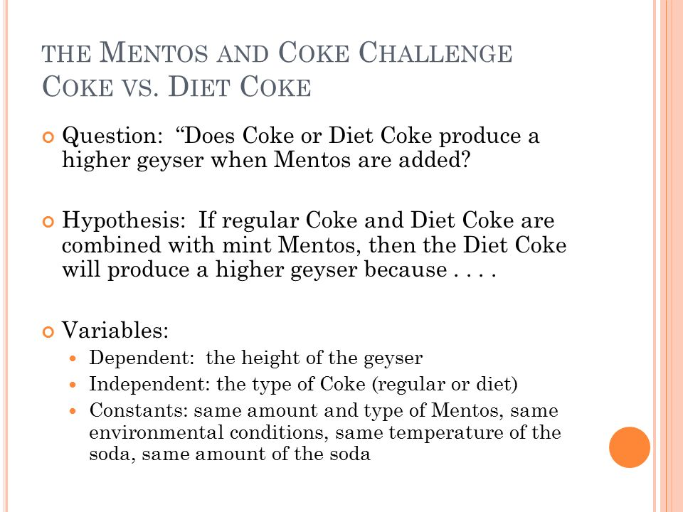 an examination of regular and diet soda The ultimate effect of regular and diet carbonated soft drinks on energy intakes   sampling design, the analysis was conducted with the sas procedure.