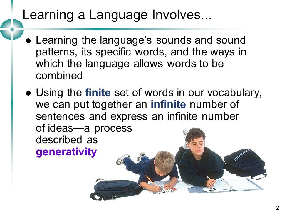 Learning a Language Involves...