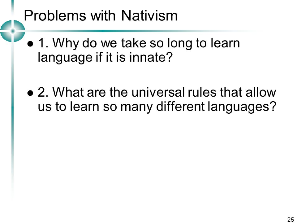 Problems with Nativism