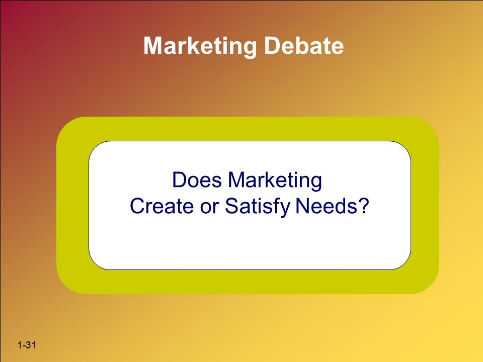 does marketing creates or satify needs Does marketing create needs or needs create marketing , a recent debate - does marketing create needs or needs create marketing today this.