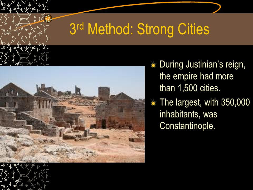 3rd Method: Strong Cities